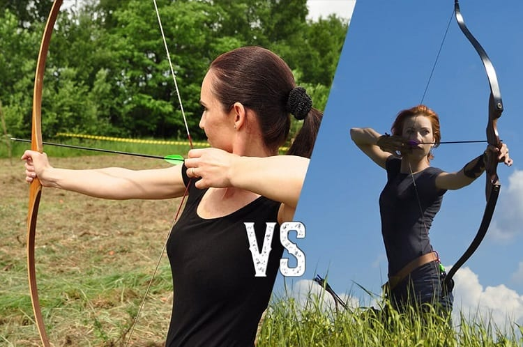 Women Shooting With Different Bows