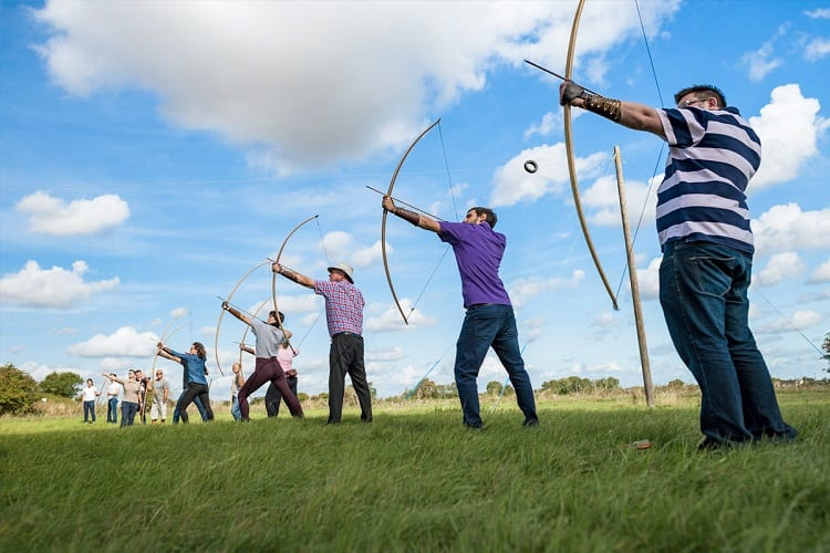 Shooting With Longbow