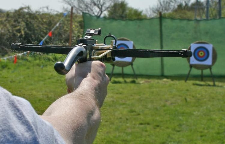 Shooting With Pistol Crossbow